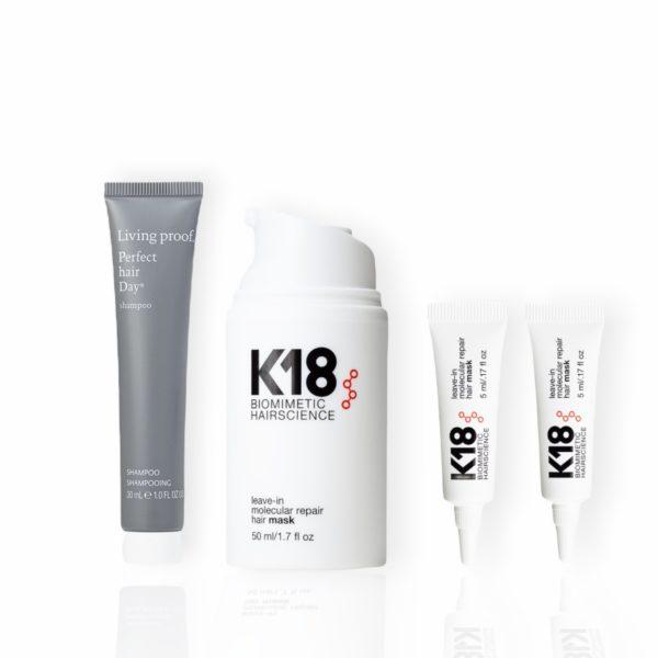 K18 Hoitonaamio 50ml (lahjaksi 2kpl 5ml näytteitä ja silikoniton shampoo 30ml, arvo 30€)